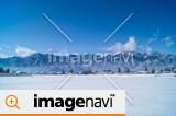 信州 安曇野の冬、大町市常盤地区