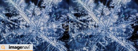 雪の結晶の立体写真