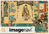 江戸浮世絵「其姿紫の写し絵三十」四代目歌川豊国(二代歌川国貞)画  嘉永5年(1852)撮影者所蔵