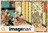 江戸浮世絵「其姿紫の写し絵九」四代目歌川豊国(二代歌川国貞)画  嘉永5年(1852)撮影者所蔵